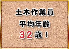 土木作業員平均年齢28.6歳!